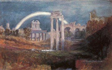 Rome The Forum with a Rainbow Romantic Turner Oil Paintings