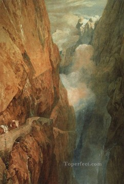 Joseph Mallord William Turner Painting - The Passage of the St Gothard 1804 Romantic Turner