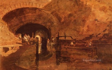 A Canal Tunnel Near Leeds Romantic Turner Oil Paintings