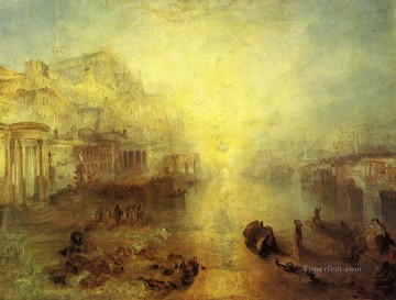 romantic romantism Painting - Ancient Italy Ovid Banished from Rome Romantic Turner
