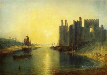 Joseph Mallord William Turner Painting - Caernarvon Castle Romantic Turner