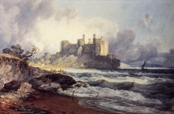 Joseph Mallord William Turner Painting - Conway Castle Romantic Turner