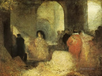 Turner Art - Dinner in a Great Room with Figures in Costume Turner