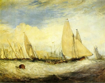 East Cowes Castle the seat of J Nash Esq the Regatta beating to landscape Turner Oil Paintings