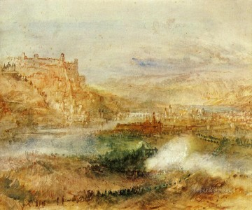 Joseph Mallord William Turner Painting - Ehrenbrietstein and Coblenz Romantic Turner