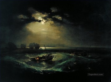 Joseph Mallord William Turner Painting - Fishermen at Sea The Cholmeley Sea Piece landscape Turner
