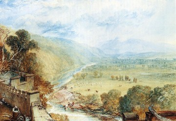 Joseph Mallord William Turner Painting - Ingleborough From The Terrace Of Hornby Castle landscape Turner