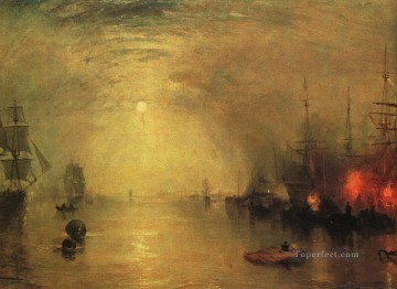 Joseph Mallord William Turner Painting - Keelman Heaving in Coals by Night Romantic Turner