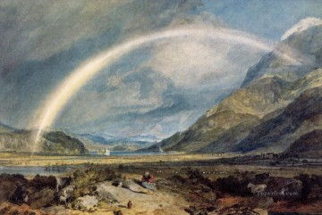 Turner Art - Kilchern Castle with the Cruchan Ben mountains Scotland Noon landscape Turner