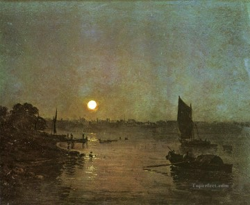 Joseph Mallord William Turner Painting - Moonlight A Stody at Millbank Romantic Turner