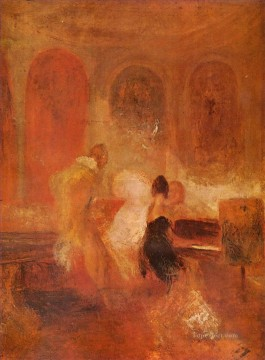 Joseph Mallord William Turner Painting - Music Company Petworth Turner