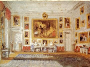 Petworth the Drawing room Romantic Turner Oil Paintings