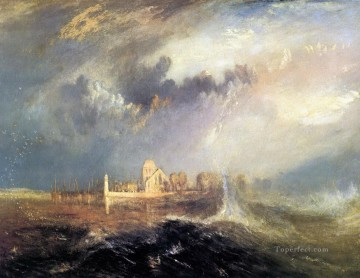 Quillebeuf at the Mouth of Seine Turner Oil Paintings