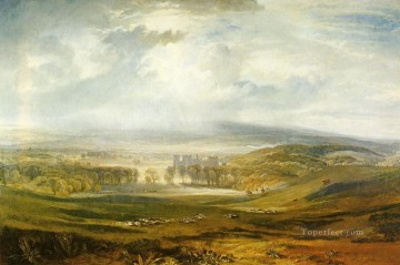 Raby Castle the Seat of the Earl of Darlington landscape Turner Oil Paintings