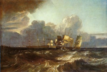 Turner Works - Ships Bearing Up for Anchorage aka The Egremont sea Piece landscape Turner