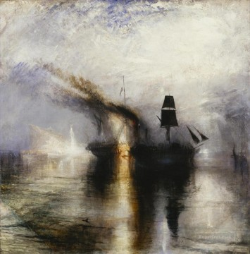Snowstorm Peace Burial at Sea 1842 Romantic Turner Oil Paintings
