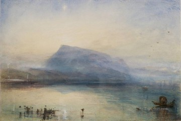 Joseph Mallord William Turner Painting - The Blue Rigi Lake of Lucerne Sunrise Romantic Turner