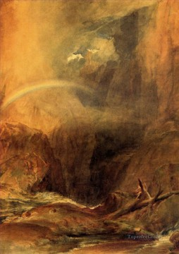 romantic romantism Painting - The Devils Bridge St Gothard Romantic Turner