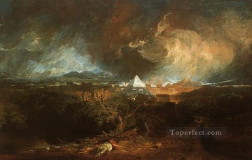 The Fifth Plague of Egypt 1800 Romantic Turner Oil Paintings