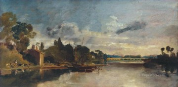 Joseph Mallord William Turner Painting - The Thames near Walton Bridges Turner