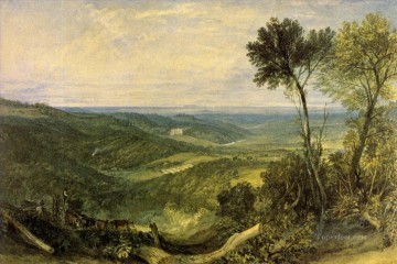 Joseph Mallord William Turner Painting - The Vale of Ashburnham Romantic Turner