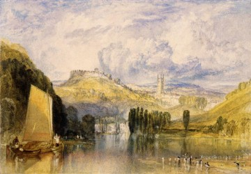 Joseph Mallord William Turner Painting - Totnes in the River Dart Romantic Turner