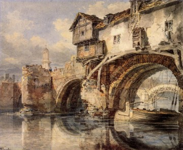 Joseph Mallord William Turner Painting - Welsh Bridge at Shrewsbury Romantic Turner