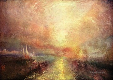 Yacht Approaching the Coast Turner Oil Paintings