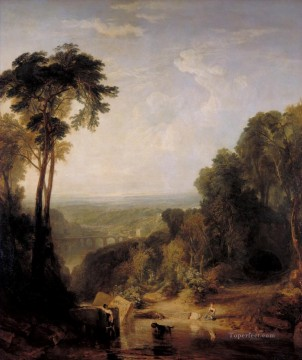 romantic romantism Painting - Crossing the Brook Romantic Turner