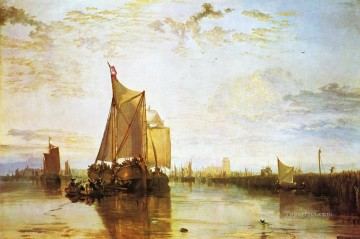 Boat Painting - Dort the Dort Packet Boat from Rotterdam Bacalmed landscape Turner