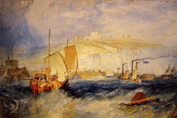 romantic romantism Painting - Dover Castle Romantic Turner