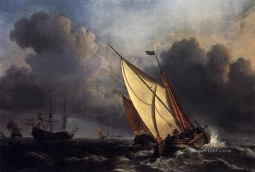 Joseph Mallord William Turner Painting - Dutch Fishing Boats in a Storm Turner