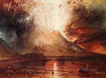 Eruption of Vesuvius Romantic Turner Oil Paintings