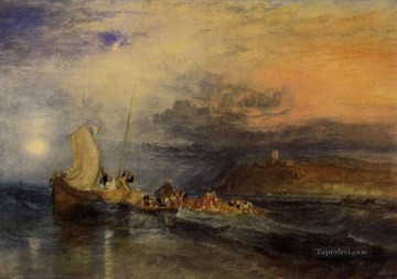 Joseph Mallord William Turner Painting - Folkestone from the Sea Romantic Turner