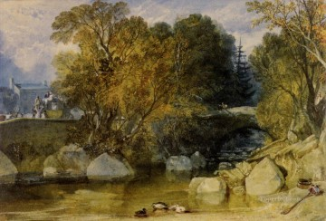 Joseph Mallord William Turner Painting - Ivy Bridge Devonshire Romantic Turner