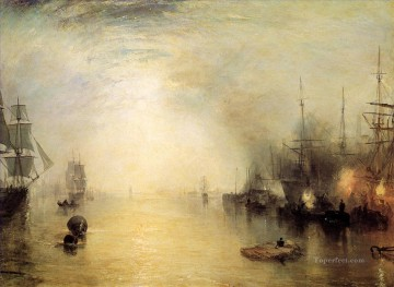 Joseph Mallord William Turner Painting - Keelmen heaving in coals by night Romantic Turner
