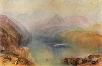 Lake Oil Painting - Lake Lucerne Turner
