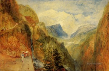 Mont Blanc from Fort Roch Val dAosta Romantic Turner Oil Paintings