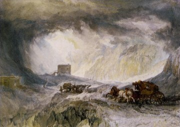 Joseph Mallord William Turner Painting - Passage of Mount Cenis Romantic Turner