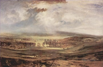 Joseph Mallord William Turner Painting - Raby Castle Residence of the Earl of Darlington Turner