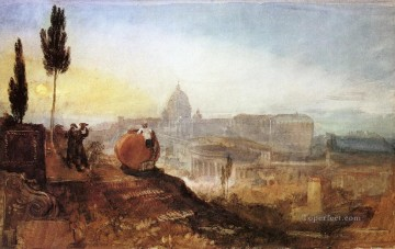 Joseph Mallord William Turner Painting - Rome St Peters from the Villa Barberini Romantic Turner