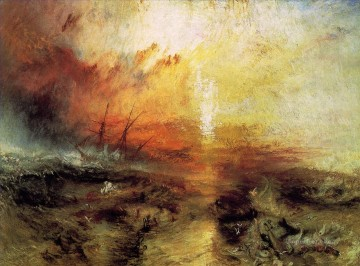 Joseph Mallord William Turner Painting - Slavers throwing overboard the death and dying landscape Turner