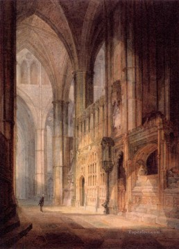 Turner Art - St Erasmus in Bishop Islips Chapel Westminster Abbey landscape Turner