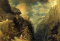 The Battle of Fort Rock Val dAoste Piedmont landscape Turner