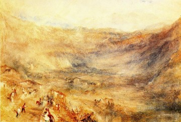 The Brunig Pass from Meringen Romantic Turner Oil Paintings