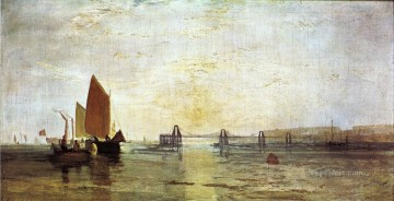 The Chain Pier Brighton Romantic Turner Oil Paintings