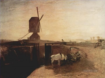 Turner Art - The big connection channel at Southall Mill Turner