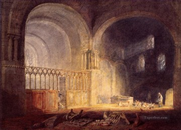 Joseph Mallord William Turner Painting - Transept of Ewenny Prijory Glamorganshire landscape Turner