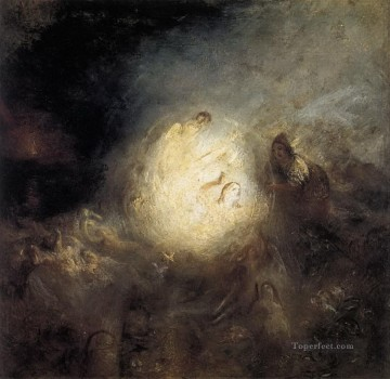Naples Canvas - Undine Giving the Ring to Massaniello Fisherman of Naples Turner