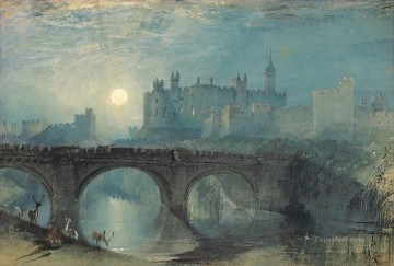 Joseph Mallord William Turner Painting - Alnwick Castle Northumberland Turner
